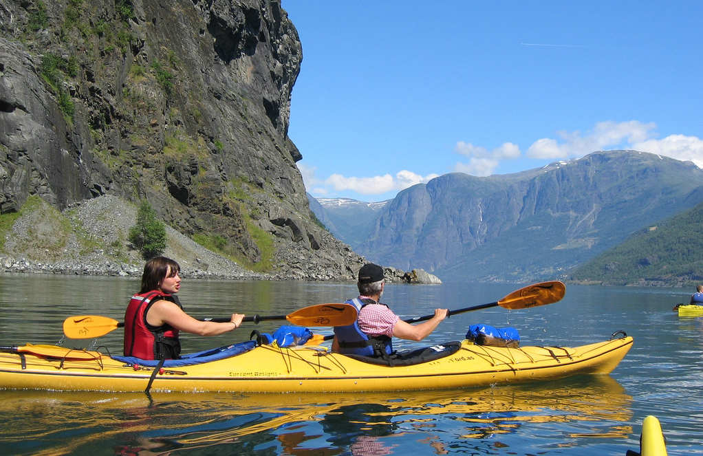 Fjord kayak Tour in the Nærøyfjord Norway