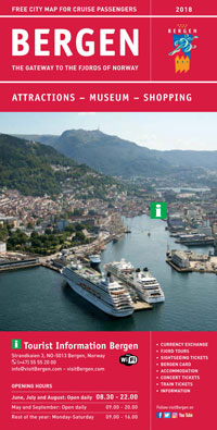 Cruise brochure from Bergen 2018