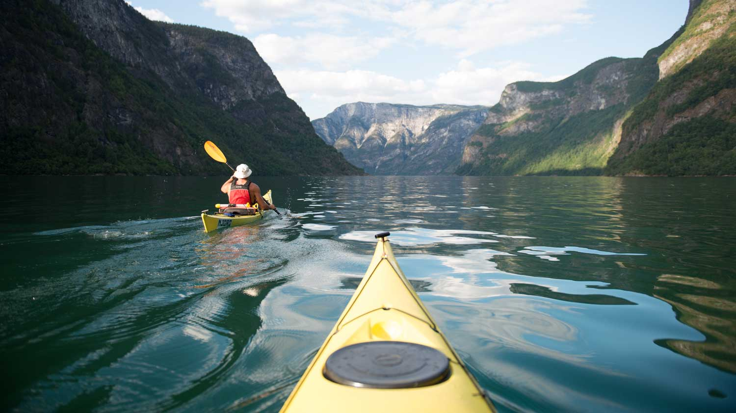 Kayaking in Norway fjords