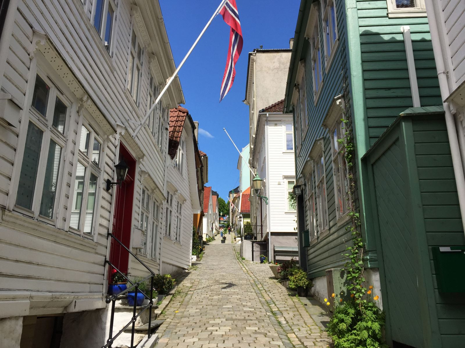 Nordnes Wooden houses Bergen Norway