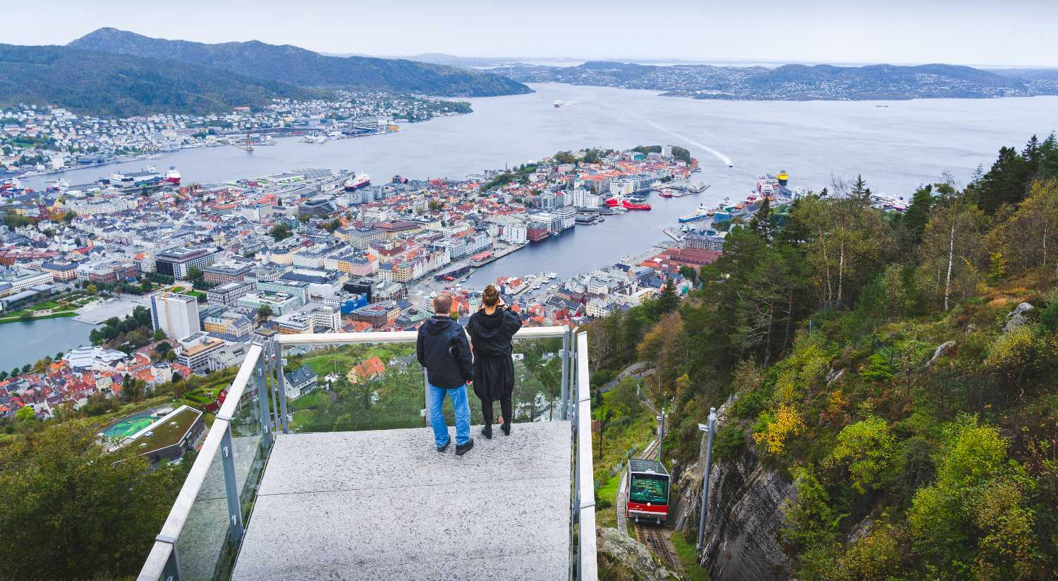 Things to do in Bergen - hiking at Fløyen