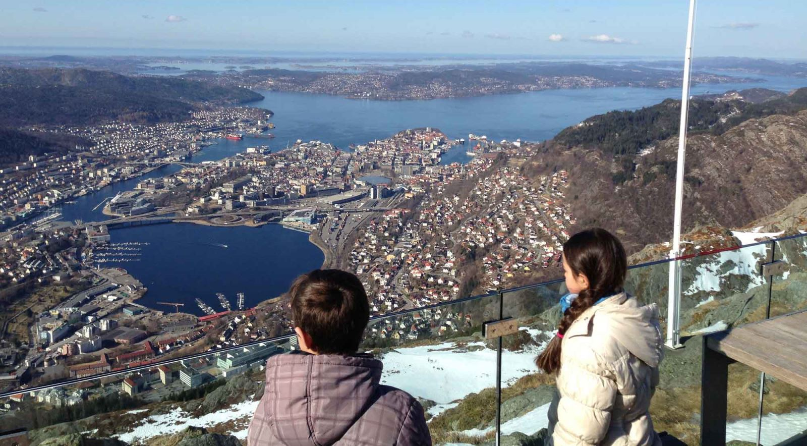 View from Mount Ulriken Bergen Norway