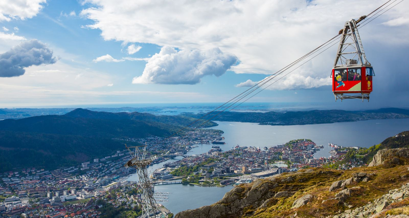 Mount Ulriken cable car Bergen Norway