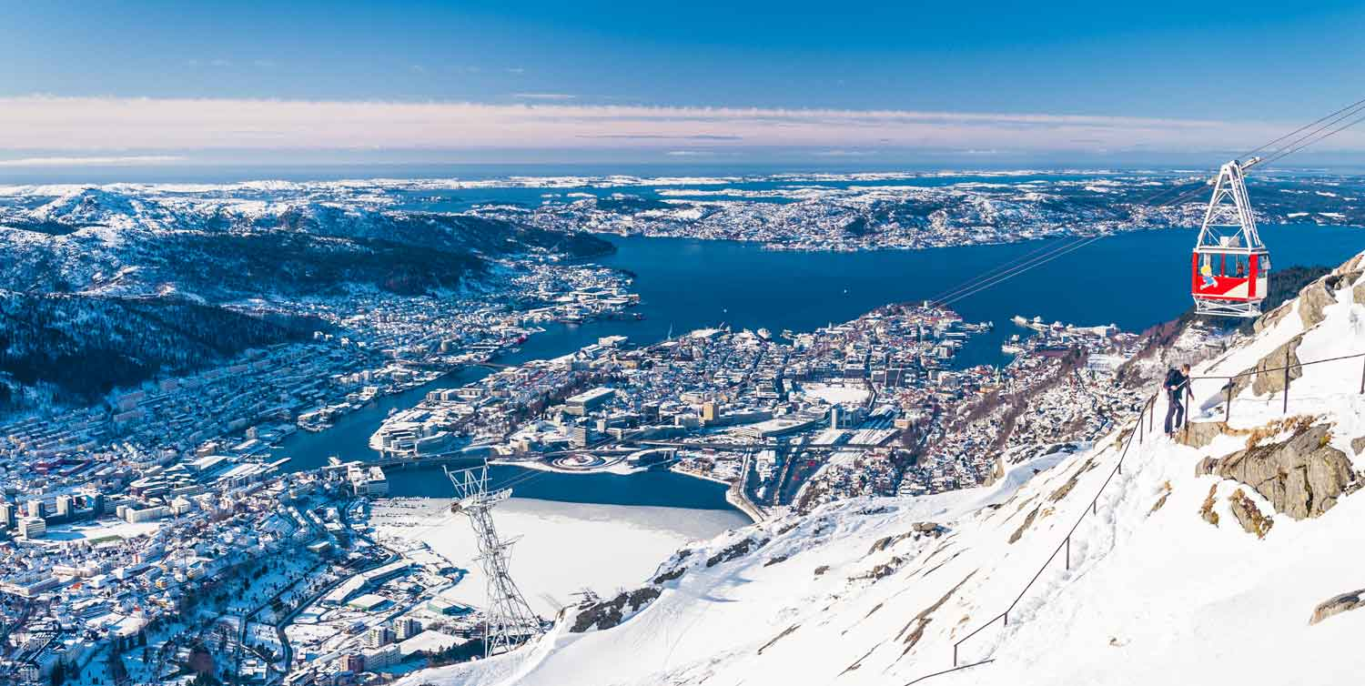 Winter in Bergen - Ulriken Cable car