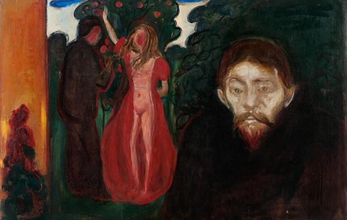 Edvard Munch (1863-1944): Jealousy, 1895.