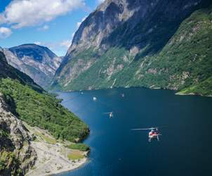 See the fjords | Amazing views from helicopter.