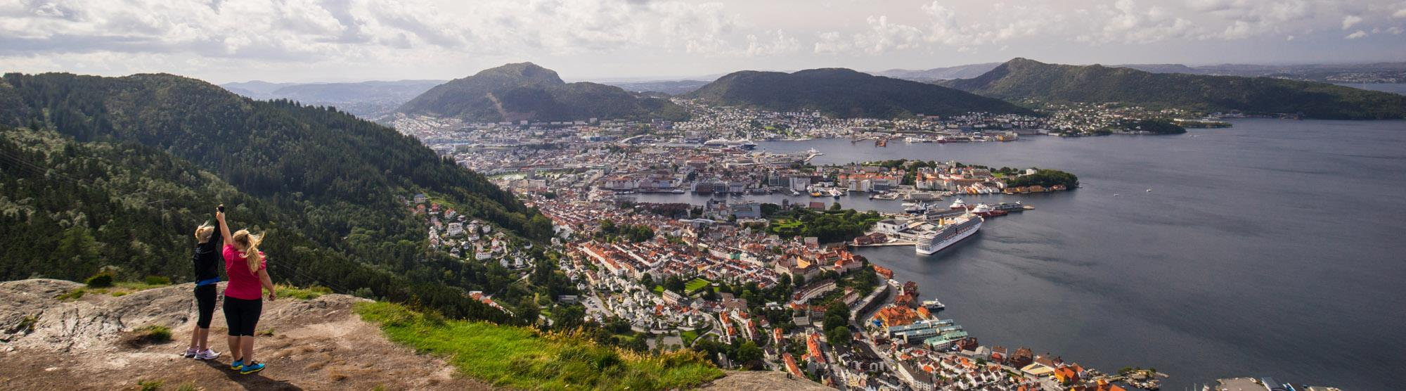 Walking routes in Bergen
