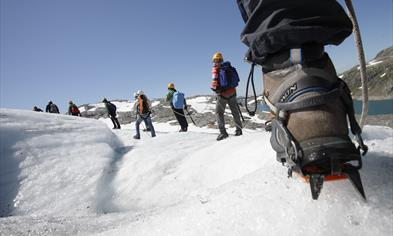 Guided glacier hiking
