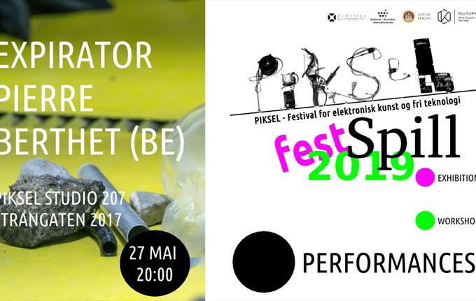 Pierre Berthet Performance Piksel Fest Spill
