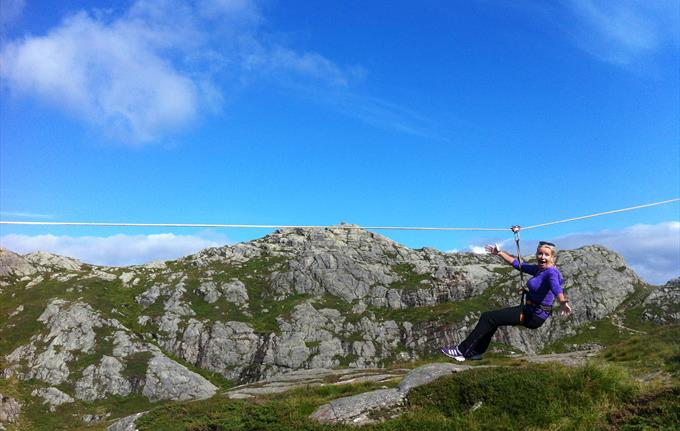 Zipline at Mt. Ulriken